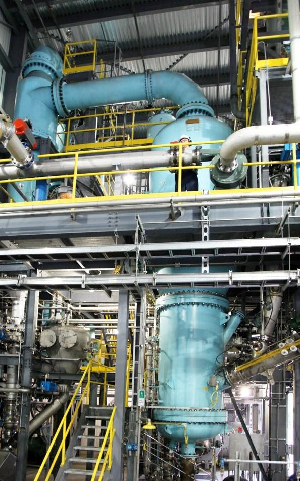 Some of the technology to be used in Enerkem's Waste-to-Biofuels project