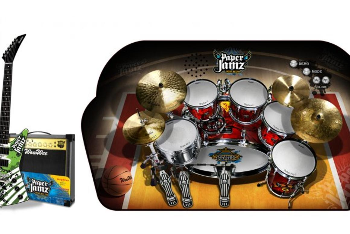 The Paper Jamz guitar, amp and drum kit from WowWee - turns your hyperactive pre-teen into an instant rockstar