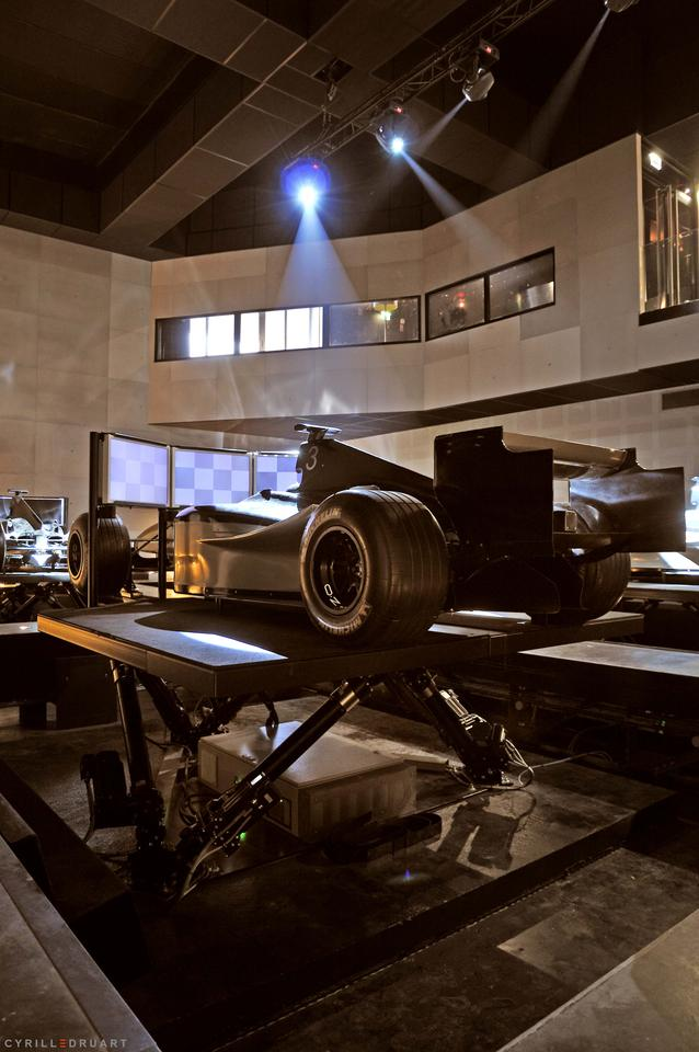 Each simulator at I-WAY World features up to six degrees of freedom