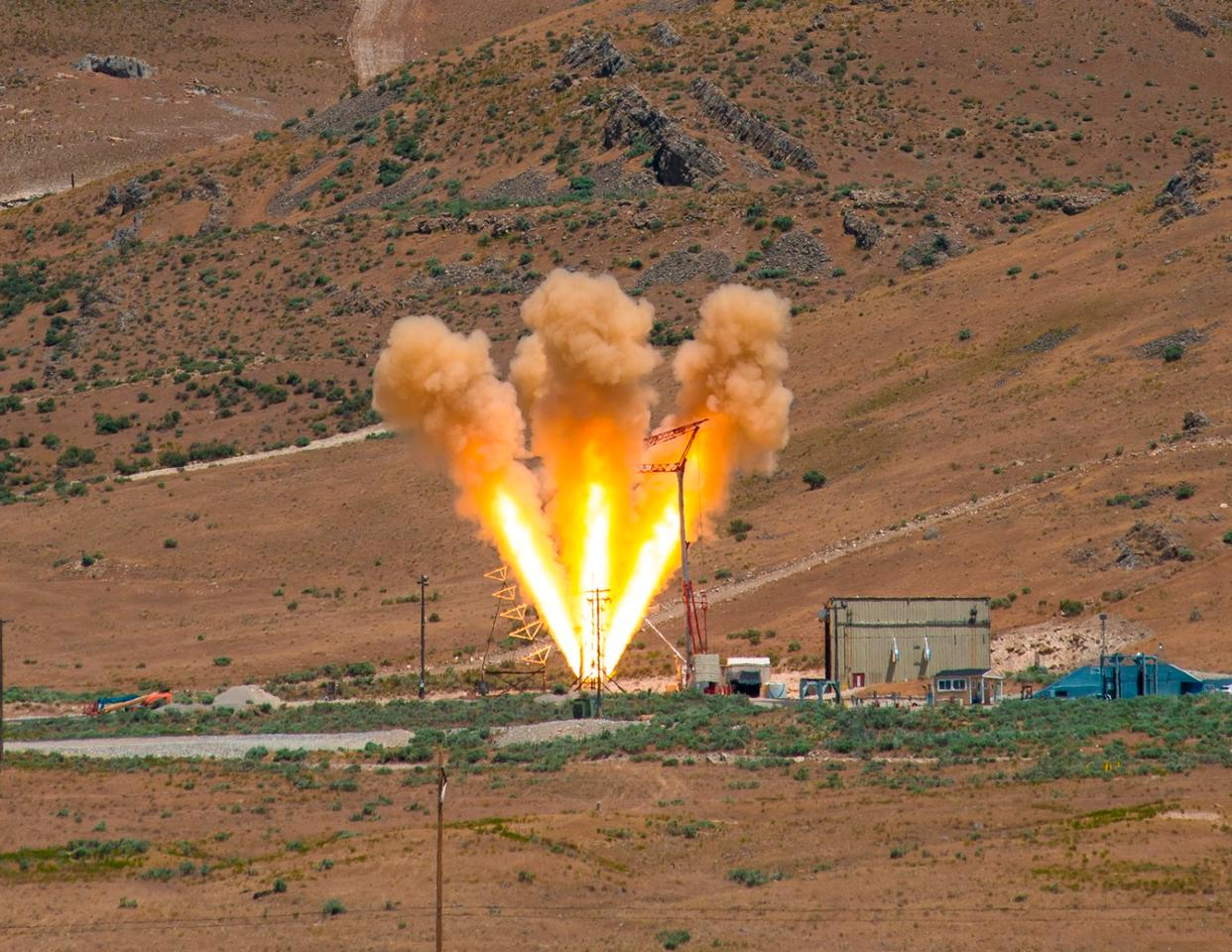 The test firing of the abort rocket motor follows years of component tests