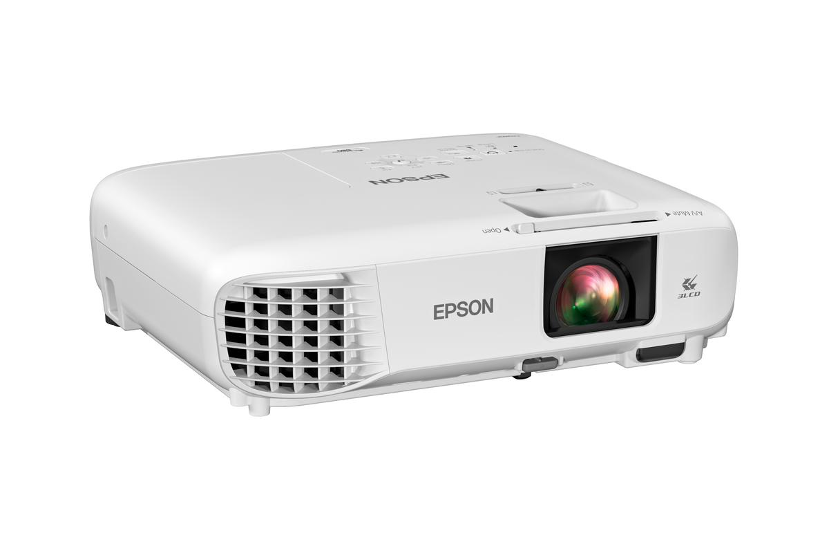 The 880X 3LCD 1080p smart portable projector is designed for office or home use