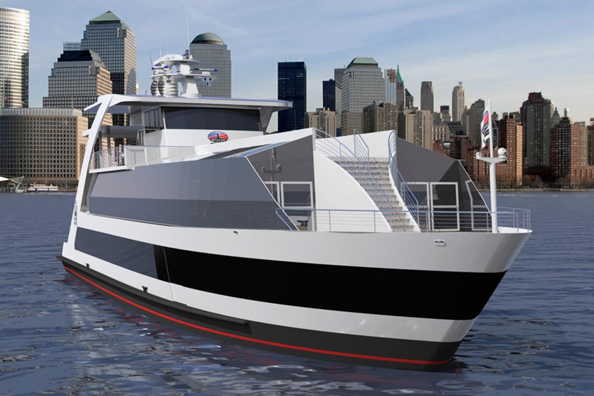 Rendering of the New York Hornblower Hybrid (Image: Statue Cruises)