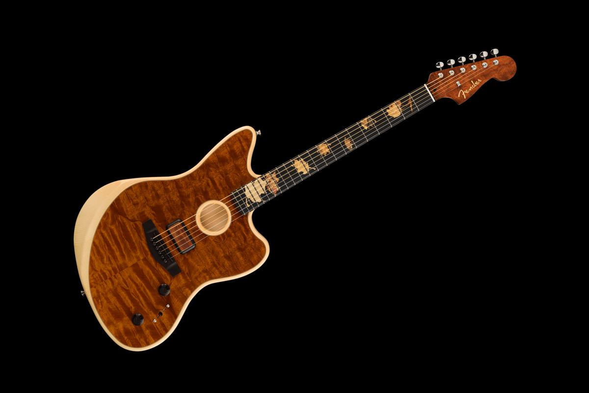 Custom Shop Master Builder Ron Thorn raided his secret stash of exotic tonewoods to create the one-off Acoustasonic Jazzmaster guitar he's calling The Trees