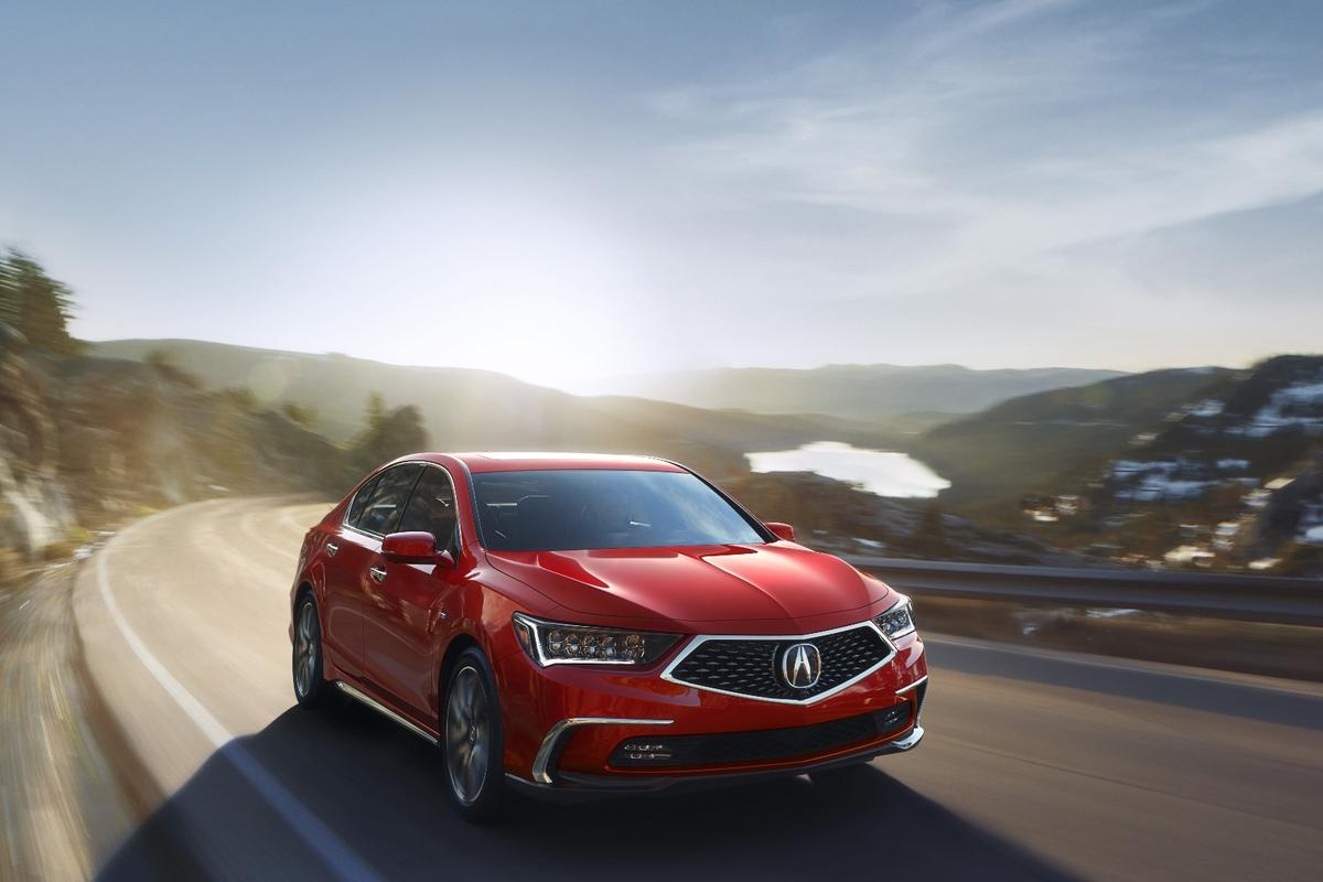 The new look front fascia of the 2018 RLX is a better reflection of the RLX's status as a luxury sedan