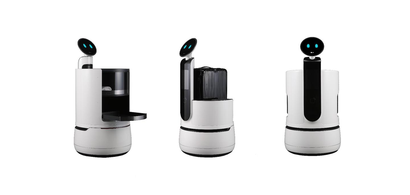 The CLOi robots are designed to work in airports, hotels, and premium supermarkets