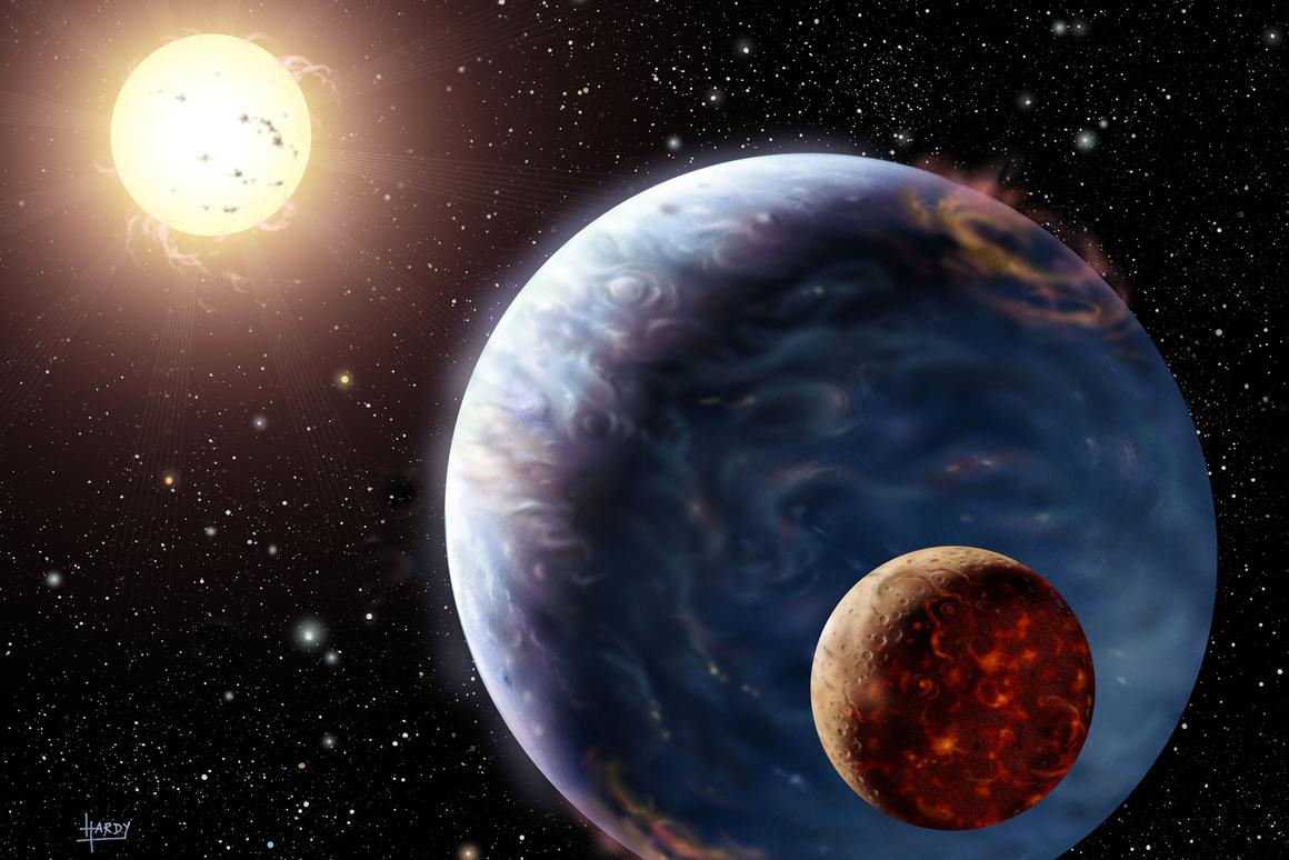 The new method will attempt to find traces of a tell-tale radio signal, known as an Io-controlled decametric emission (Image: NASA)