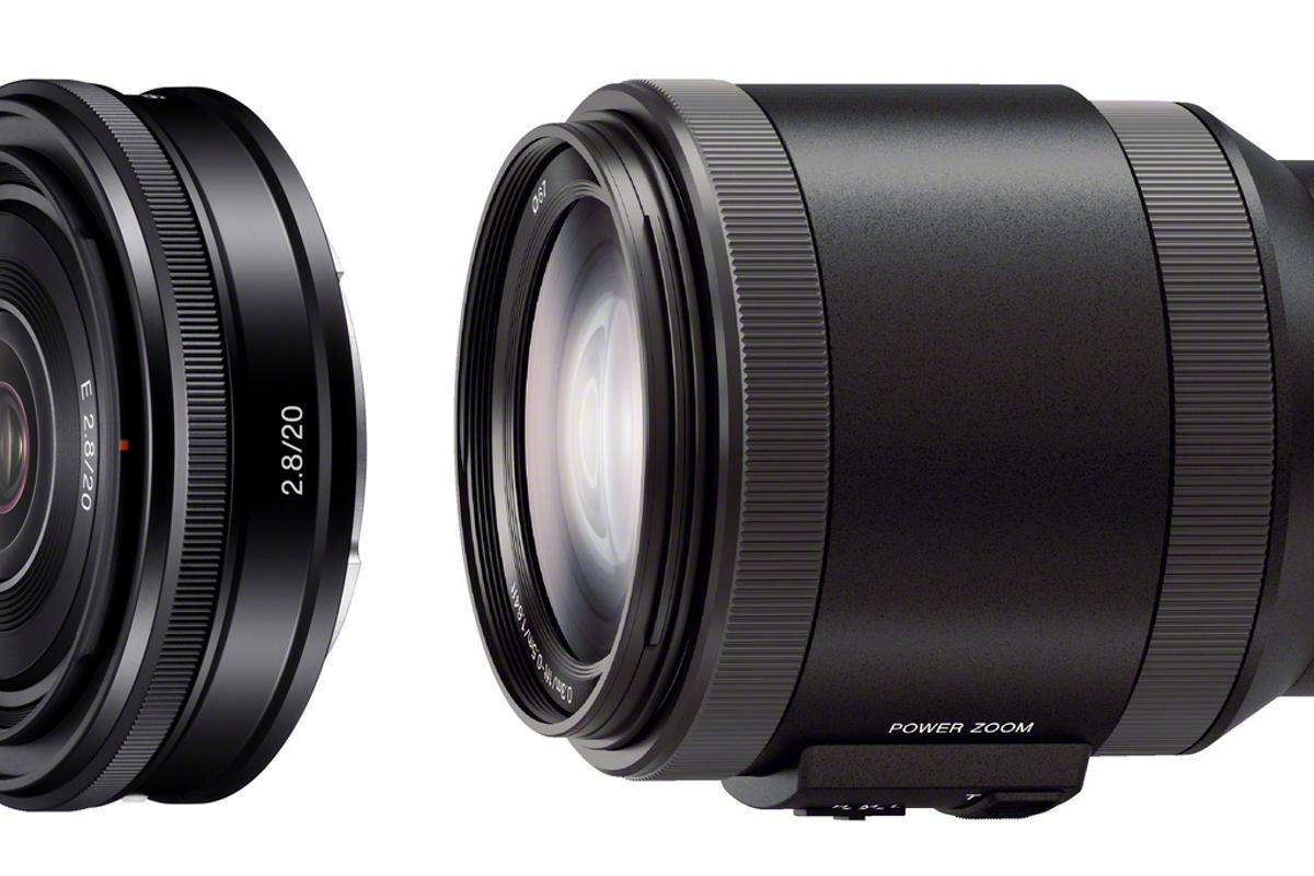 The two new Sony E-mount lenses add to the shooting options for its NEX range of mirrorless cameras