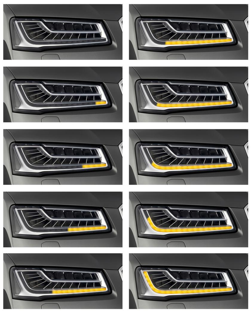 Audi turns to sequential lighting indicators