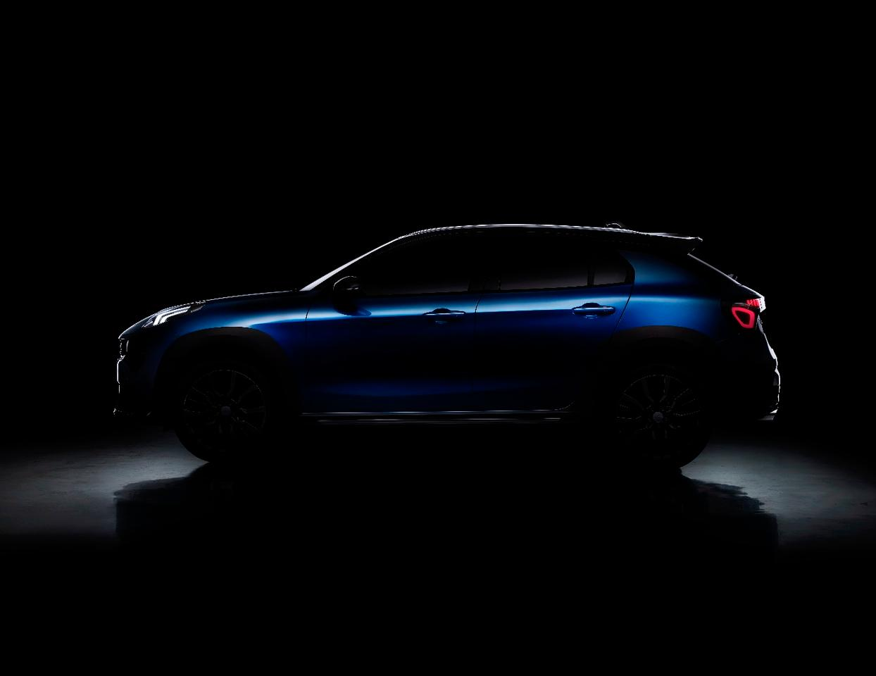 A pre-reveal teaser image of the new Lynk & Co 02