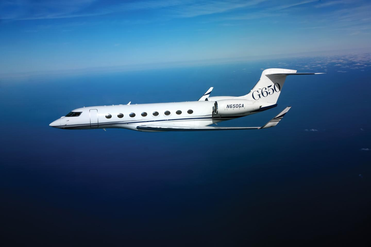 Gulfstream's G650 business jet has received a type certificate from the FAA