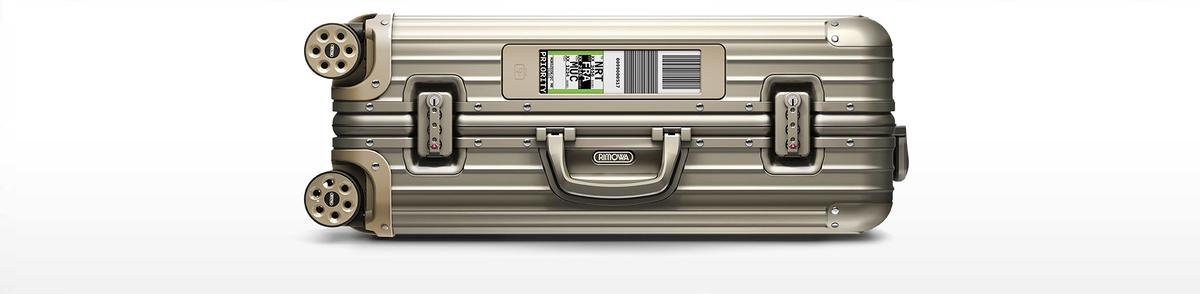The electronic luggage tag from German luggage maker Rimowa was tested with select Lufthansa passengers in 2015