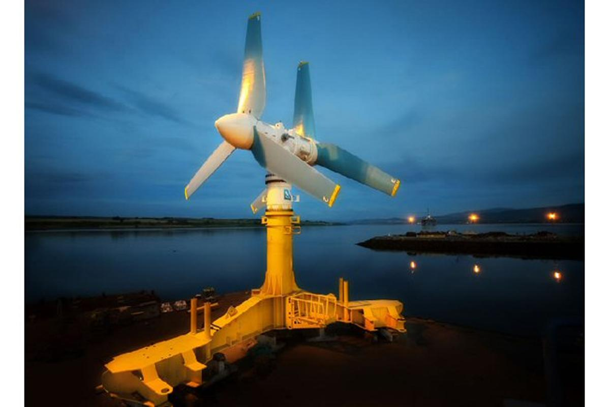 Atlantis Resources Corporation has just unveiled its recently completed AK1000 tidal turbine before it heads off to Orkney in Scotland for installation and connection to the grid