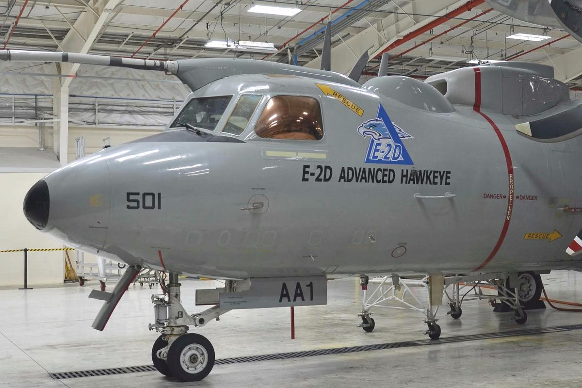 The first USNavy E-2D Advanced Hawkeye equipped with aerial refueling