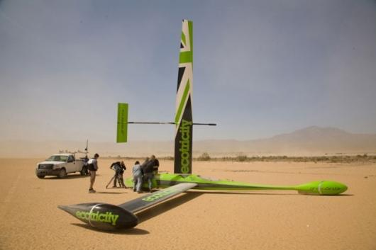 Greenbird sets land sailing speed record at Lake Ivanpah
