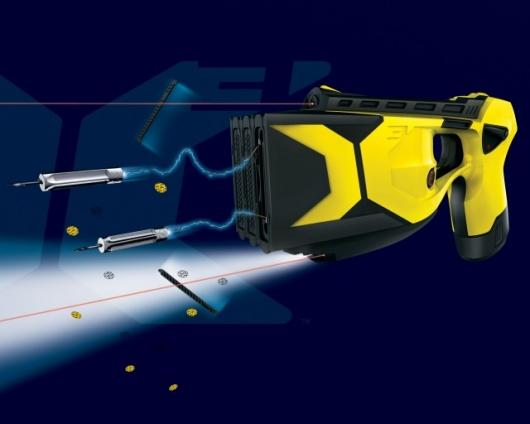Hard to miss ... the Taser X3 has additional fire power and more onboard technology