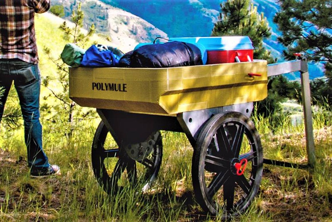 The big wheels on the Polymule give it a very handy ground clearance