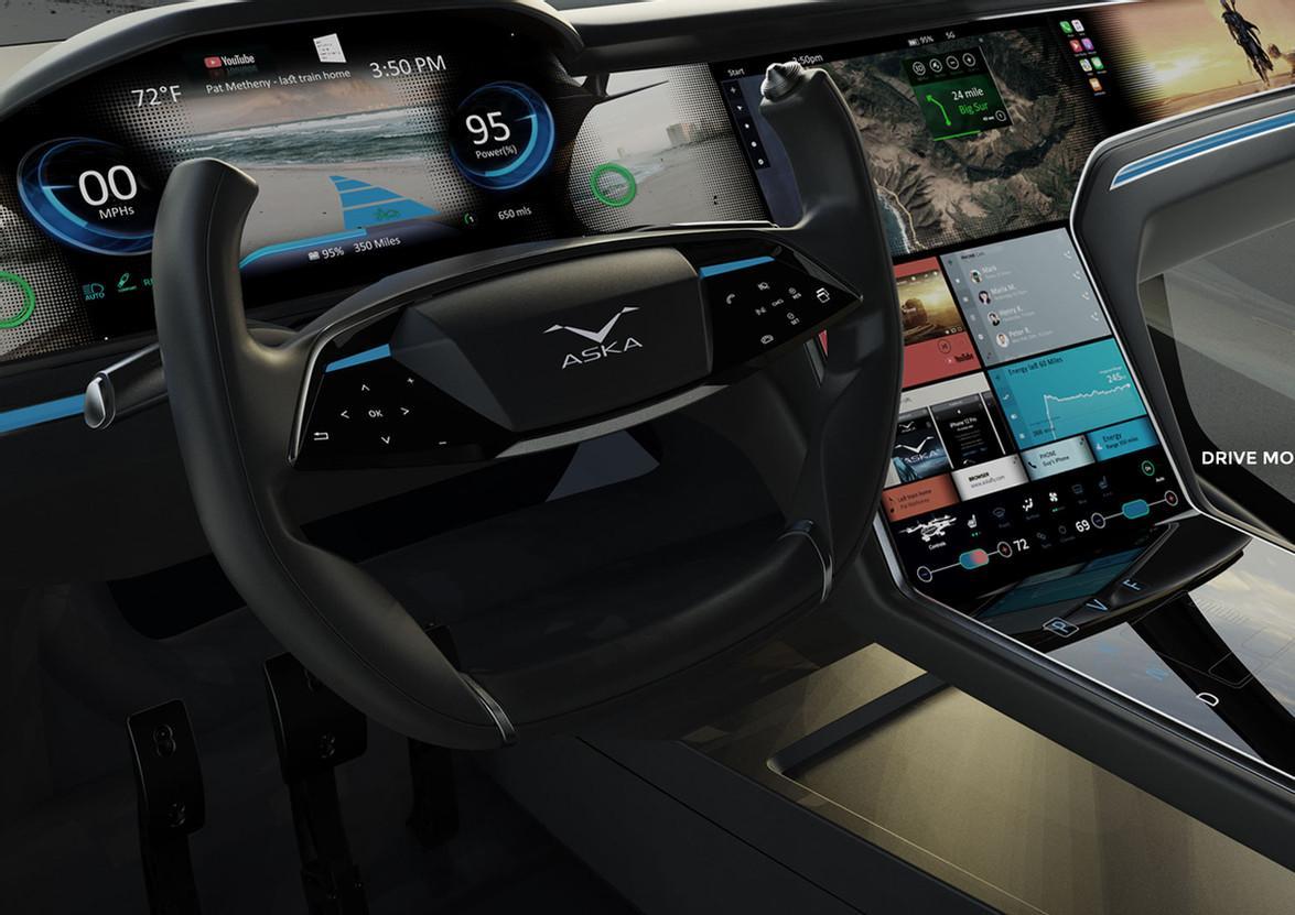 The interior: an absolute screen-o-rama