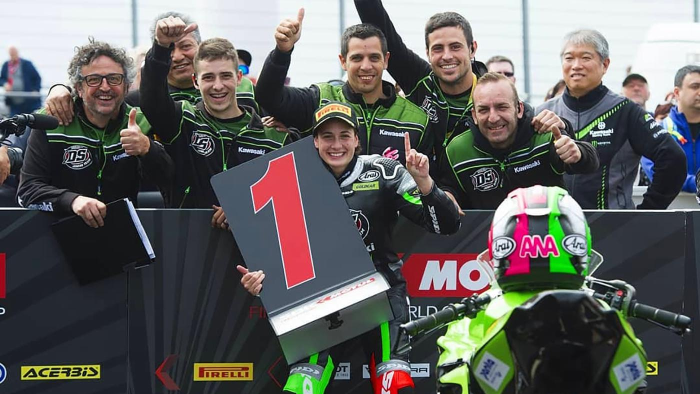 Anna Carrasco:First female world motorcyclechampion ever! Magny Cours, France, September 30,2018