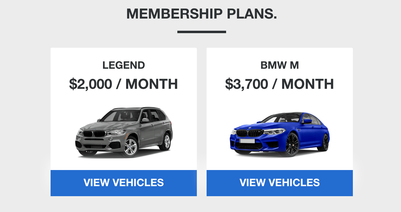 Access by BMW: a luxury car subscription service that lets you drive your choice of Beemers and switch whenever you feel like it.