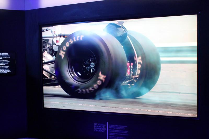 Sharp's 120-inch commercial 4K LCD panel at CES 2015 (Photo: Eric Mack/Gizmag)