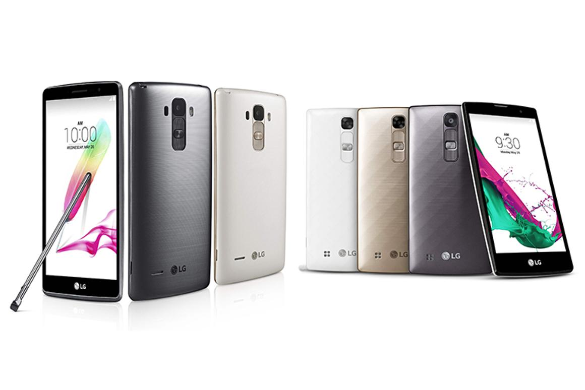 The LG G4 Stylus (left) and LG G4c (right)