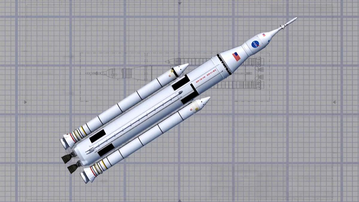 Artist's impression of the Space Launch System (Image: NASA/MSFC)