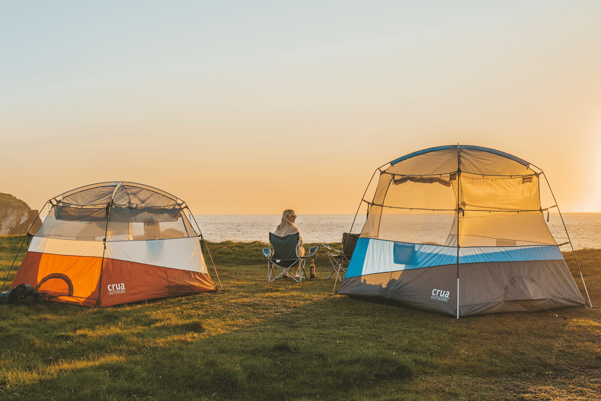 The Crua Tent adjusts from 5 foot high to 6.6 foot high