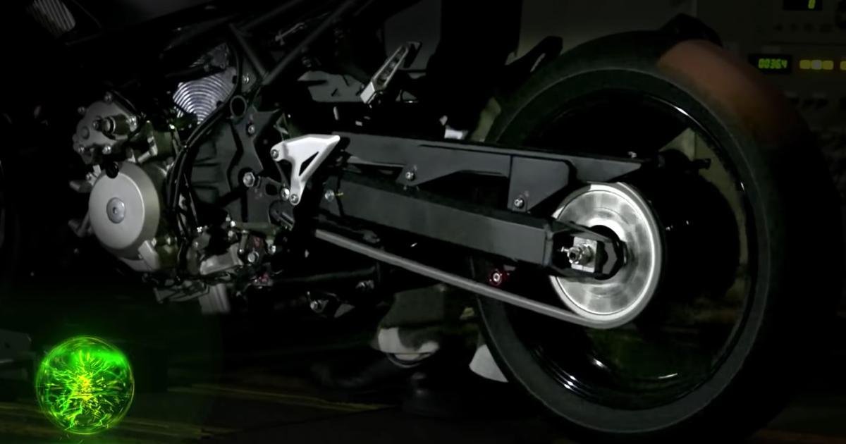 Kawasaki shows its fascinating hybrid motorcycle prototype on the dyno