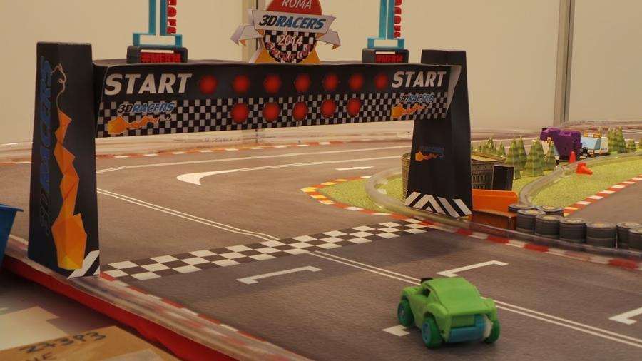 3DRacers is a car racing game for which the cars are 3D printed and controlled via smartphone