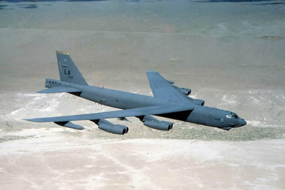 The upgrade allows the B-52 to carry 50 percent more smart weapons (Image: USAF)