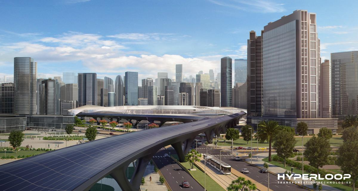 HyperloopTThopes to eventually extend its transport systemto cover the distance between Dubai and Abu Dhabi