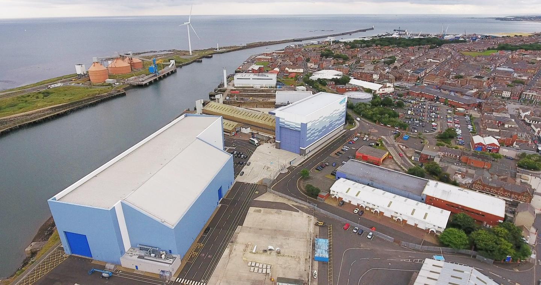 ORE Catapult's 15-megawatt wind turbine power train test facility, located in Blyth, Northumberland