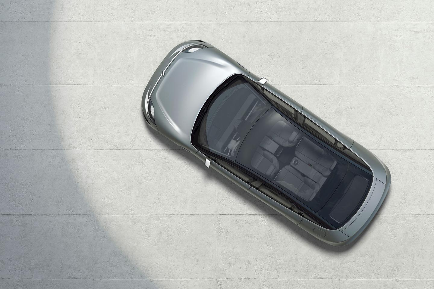 Sony's Vision S concept car from the top down