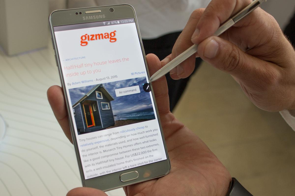 Samsung continues to improve its stylus-toting phablet