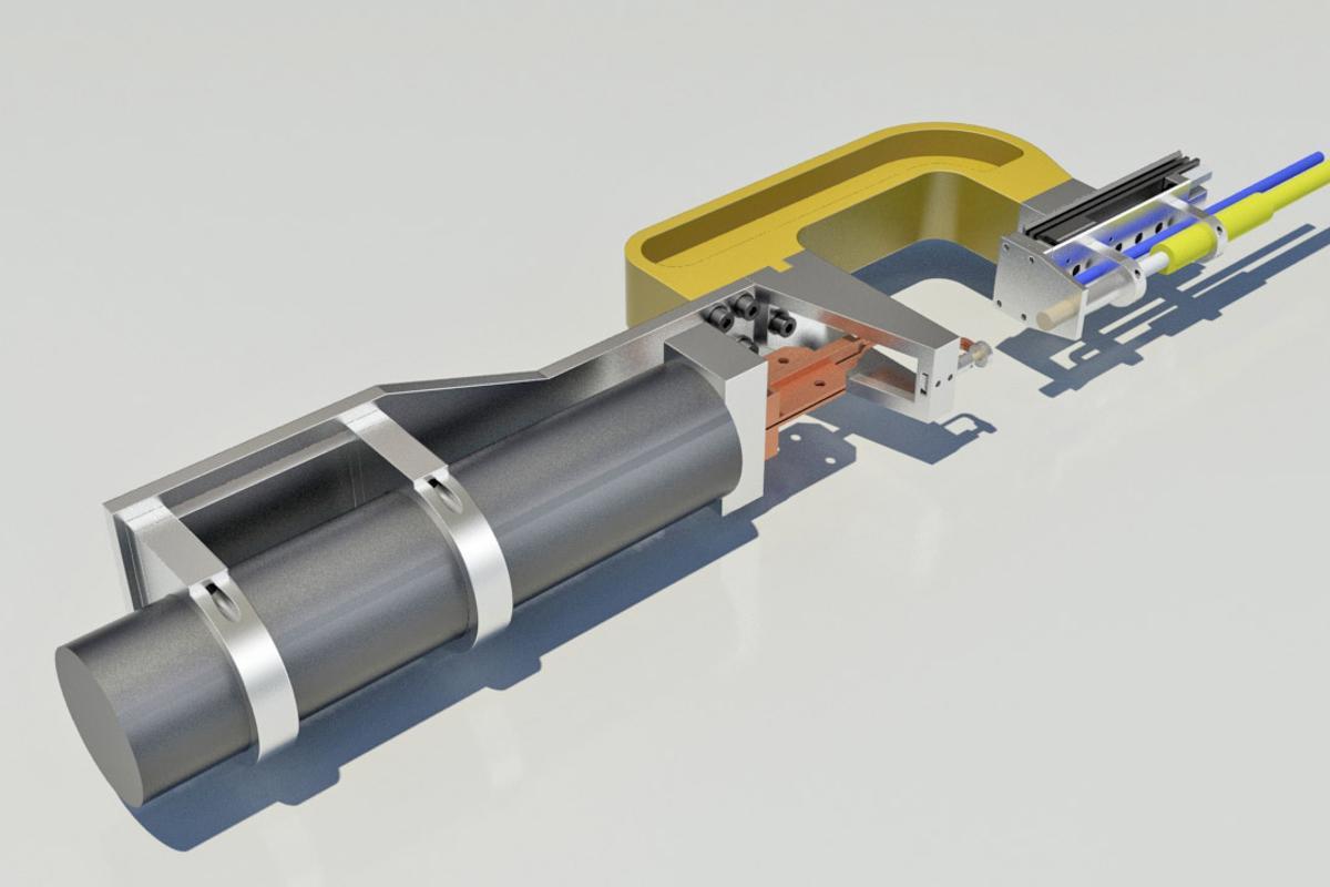 A rendering of the HPCI gun