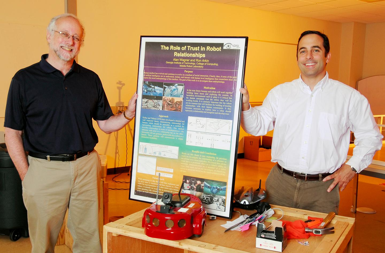 Georgia Tech Regents professor Ronald Arkin (left) and research engineer Alan Wagner