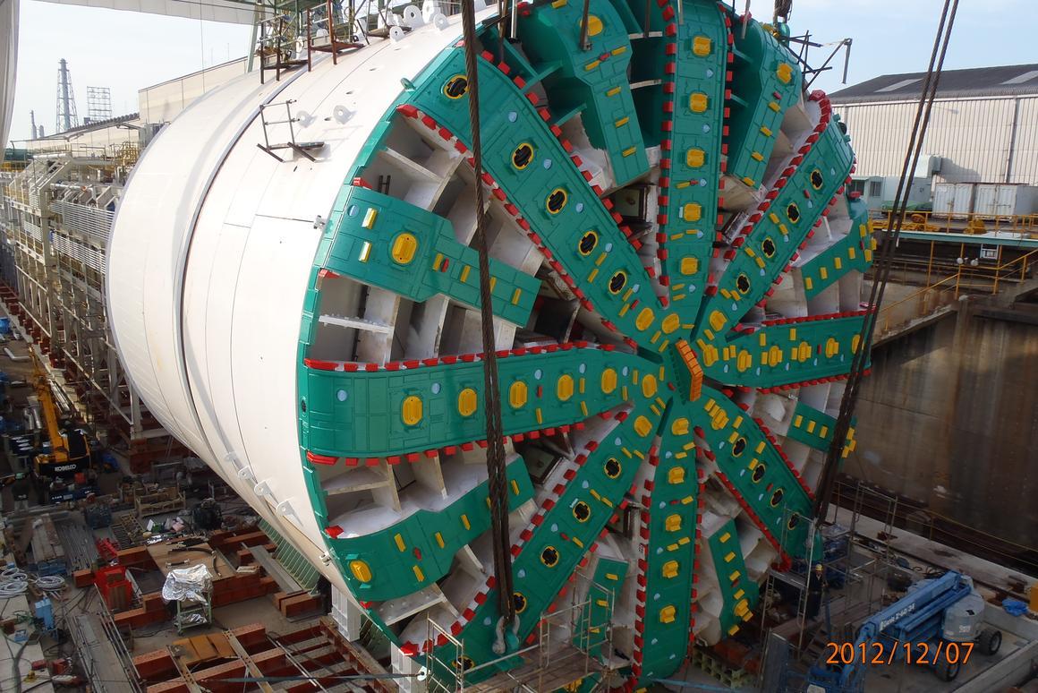 Bertha awaiting dismantling at Osaka, Japan before making its way to Seattle (Image: WSDOT)