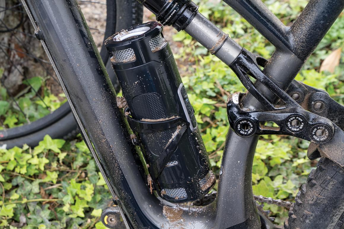 The Scosche BoomBottle+ fits in most bicycle bottle cages