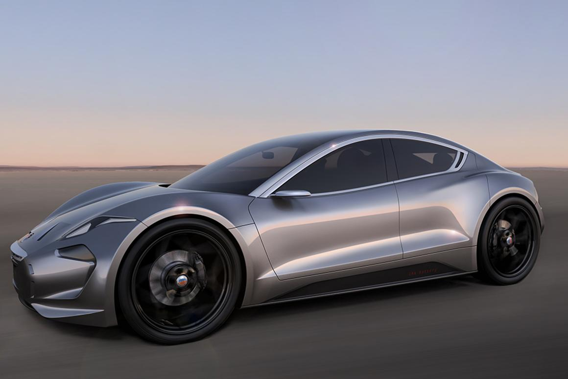 The Fisker EMotion will have a claimed top speed of 161 mph (260 Km/h) and an all-electric range of 400 mi (640 km)