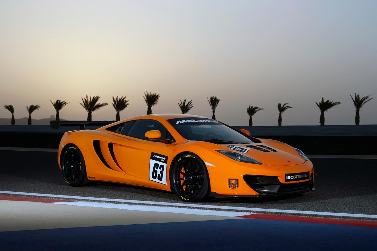 The Mclaren 12C GT Sprint is designed for track use