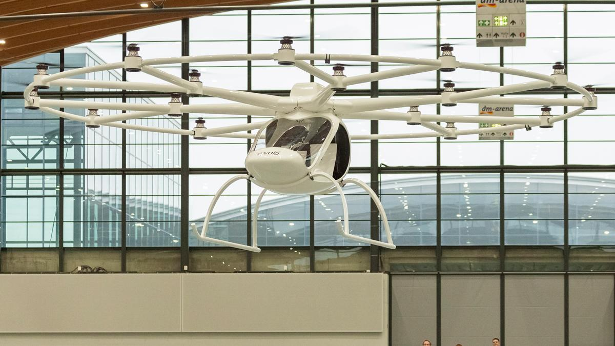 E-volo's Volocopter takes to the air for the first time last month
