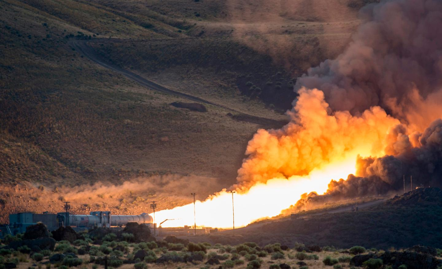Conducted at 40° F (4.5° C) to test the effects of how propellant burns at the launch-pad temperature, the inside of the booster reached 6,000° F (3,315° C) and produced 3.6 million pounds of thrust