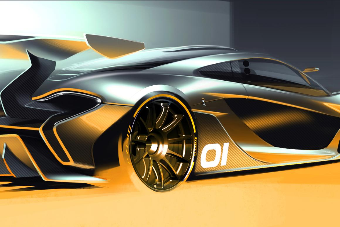 This Artist's concept is the latest hint of what the McLaren P1 GTR will look like