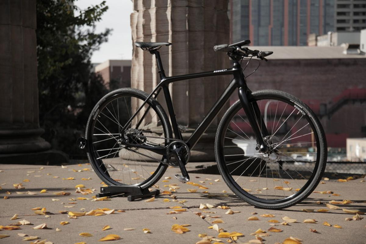 The Rogue C6 carbon fiber bicycle integrates GPS systems and is designed for commuters