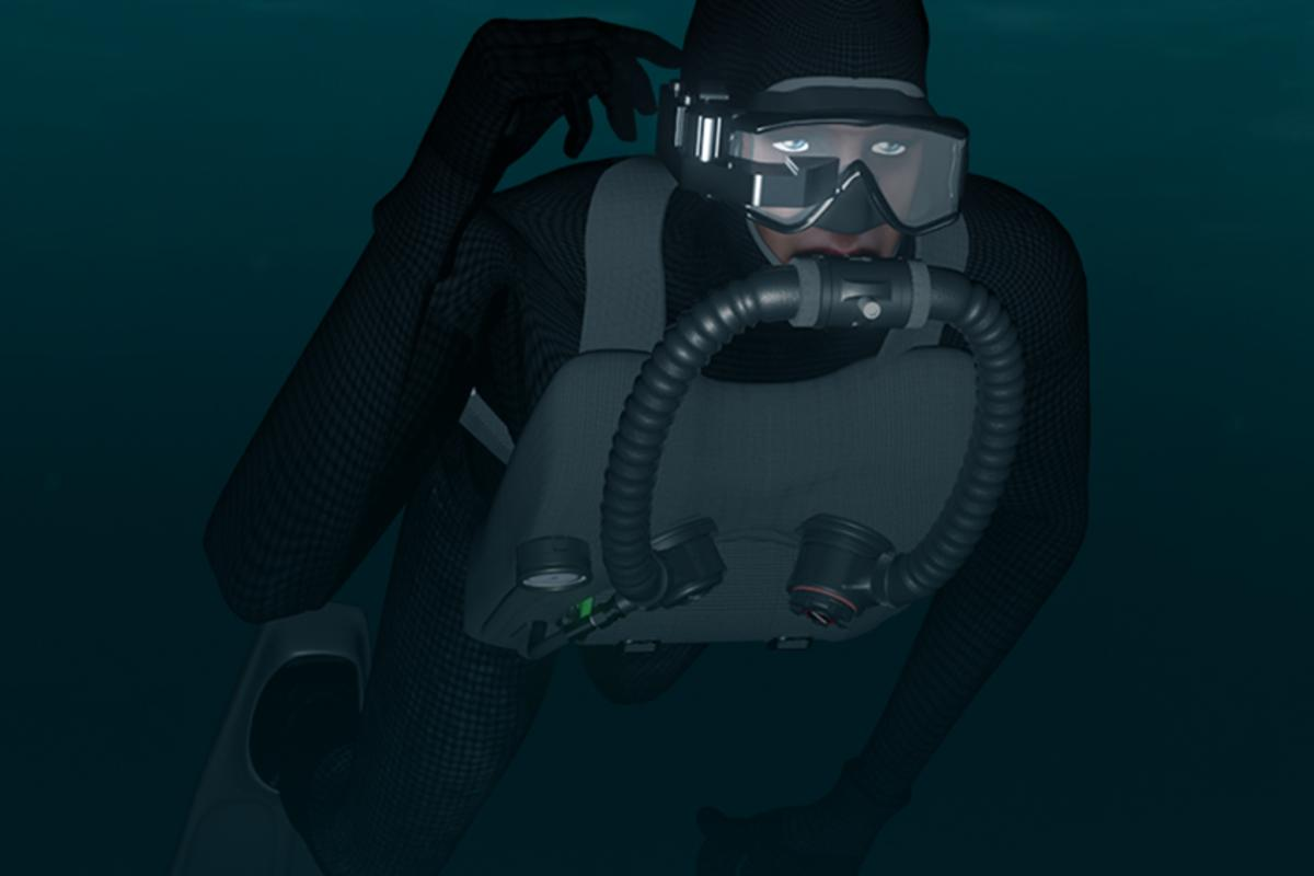 Shadow NAV is designed for combat divers operating in zero visibility