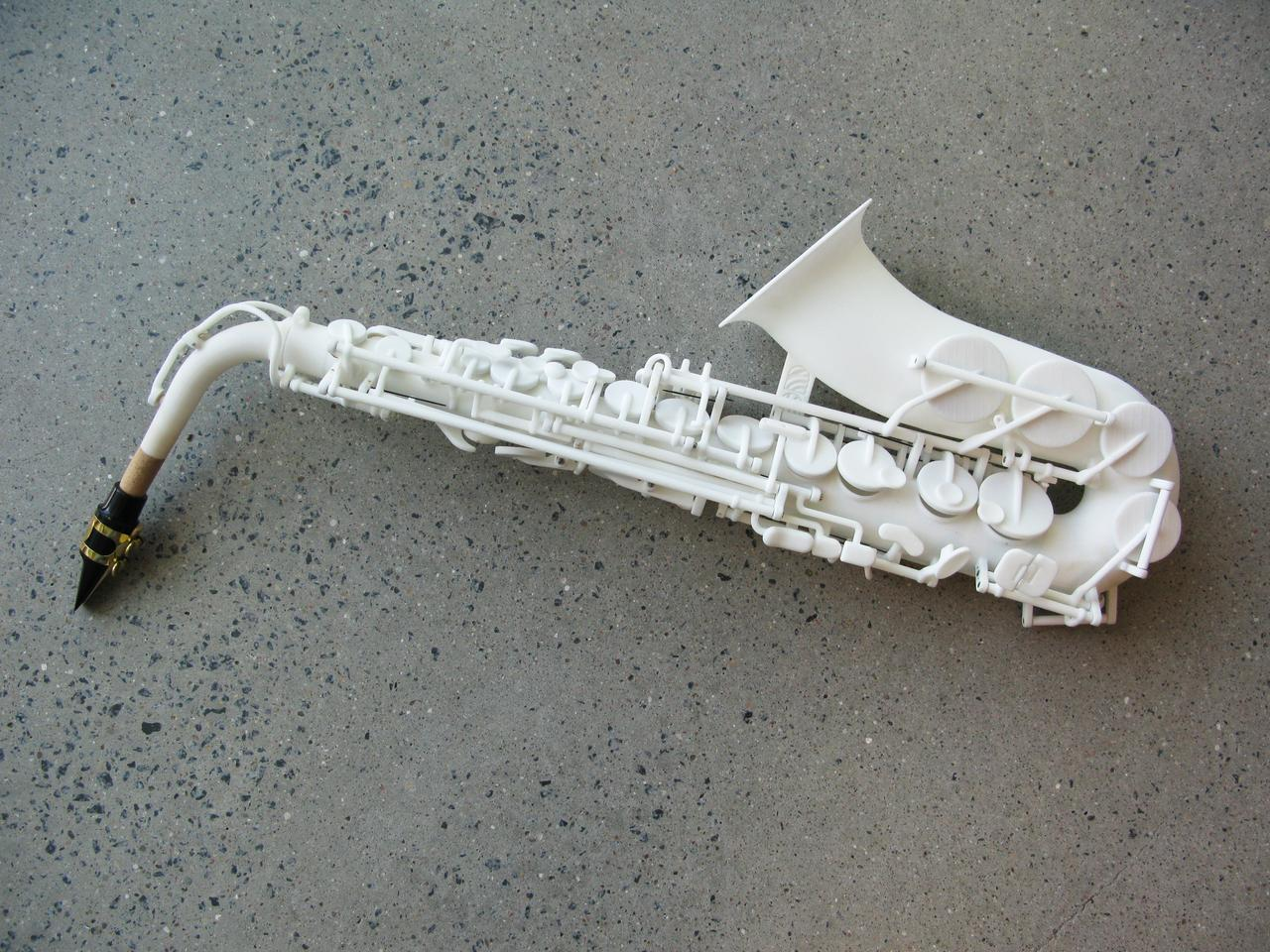 Olaf Diegel's prototype 3D-printed alto sax