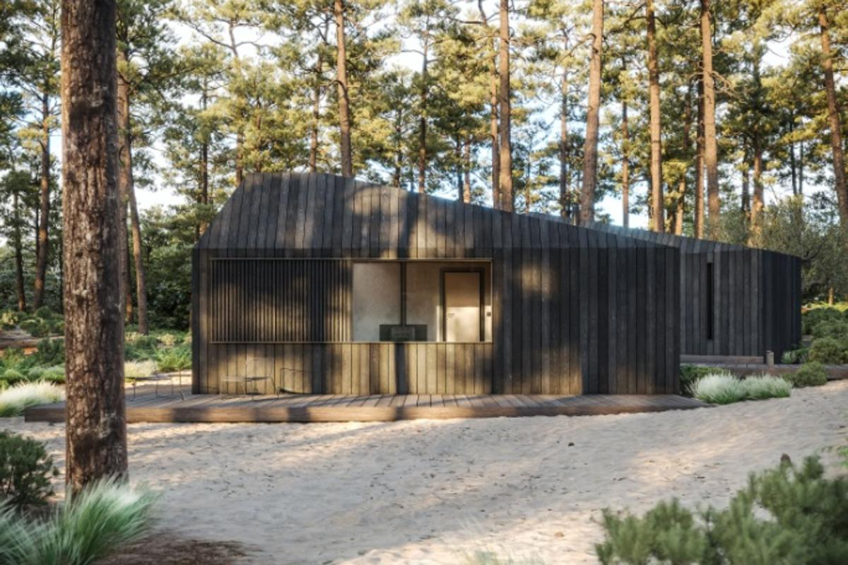 "The Hytte ""hotel in a box"" cabin can be ordered in minimum batches of three"