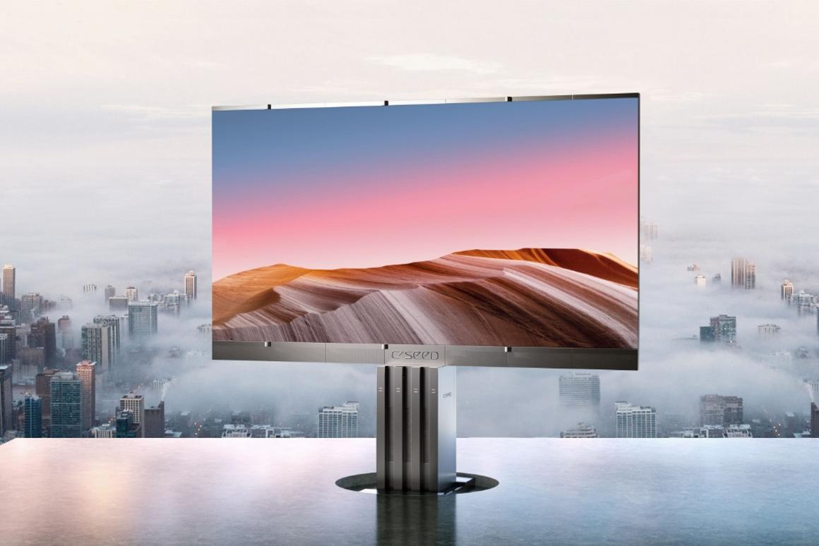 The C Seed 301 LED TV supports up to 4K HDR content, is bright enough to watch in direct sunlight and features 48-bit color depth