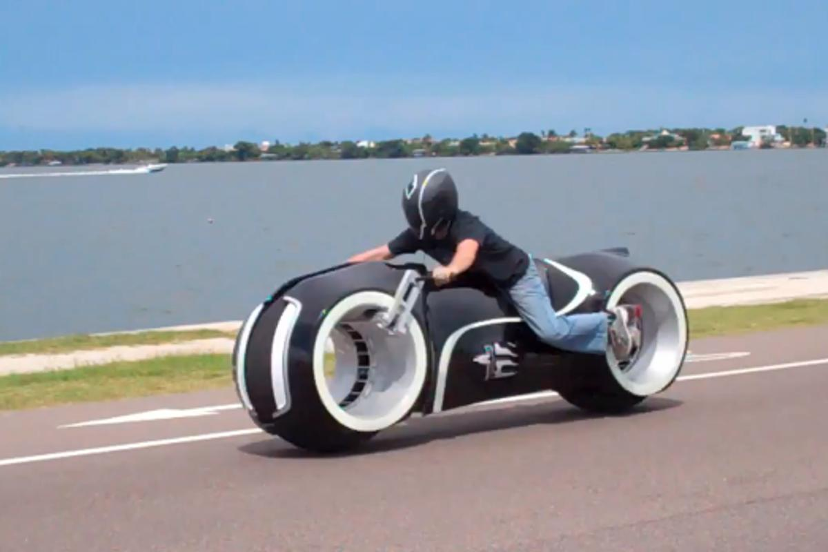 All-Electric Lightcycle (Screenshot from Parker Brothers video)
