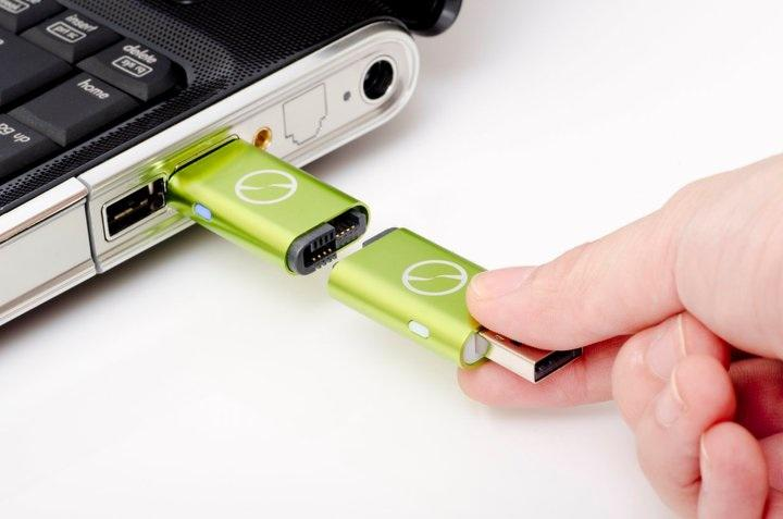 Using two flash drive-like USB sticks, iTwin allows two remote computers to access one another's complete hard drives via a secure internet connection
